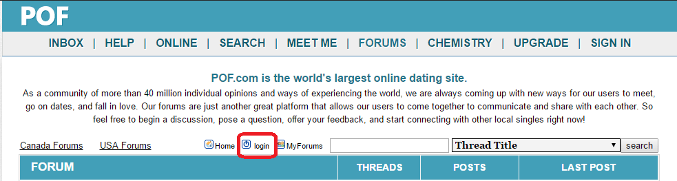 Plentyoffish forums