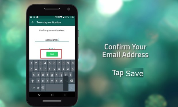 how to get whatsapp verification code by email