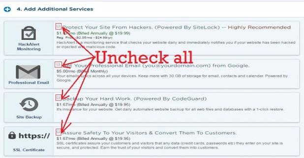 uncheck-hosting-addons-Hostgator