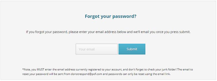 Pof password reset link
