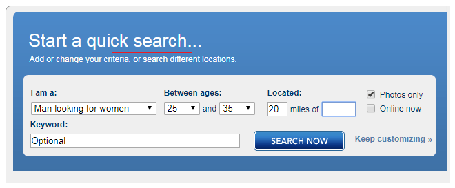 Search match without signing up