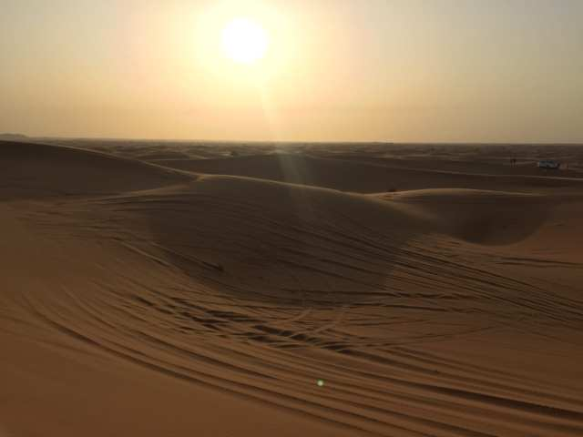 Sunset in the Desert, Dubai