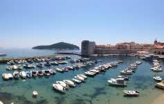 Panoramic View of the Dubrovnik Harbour