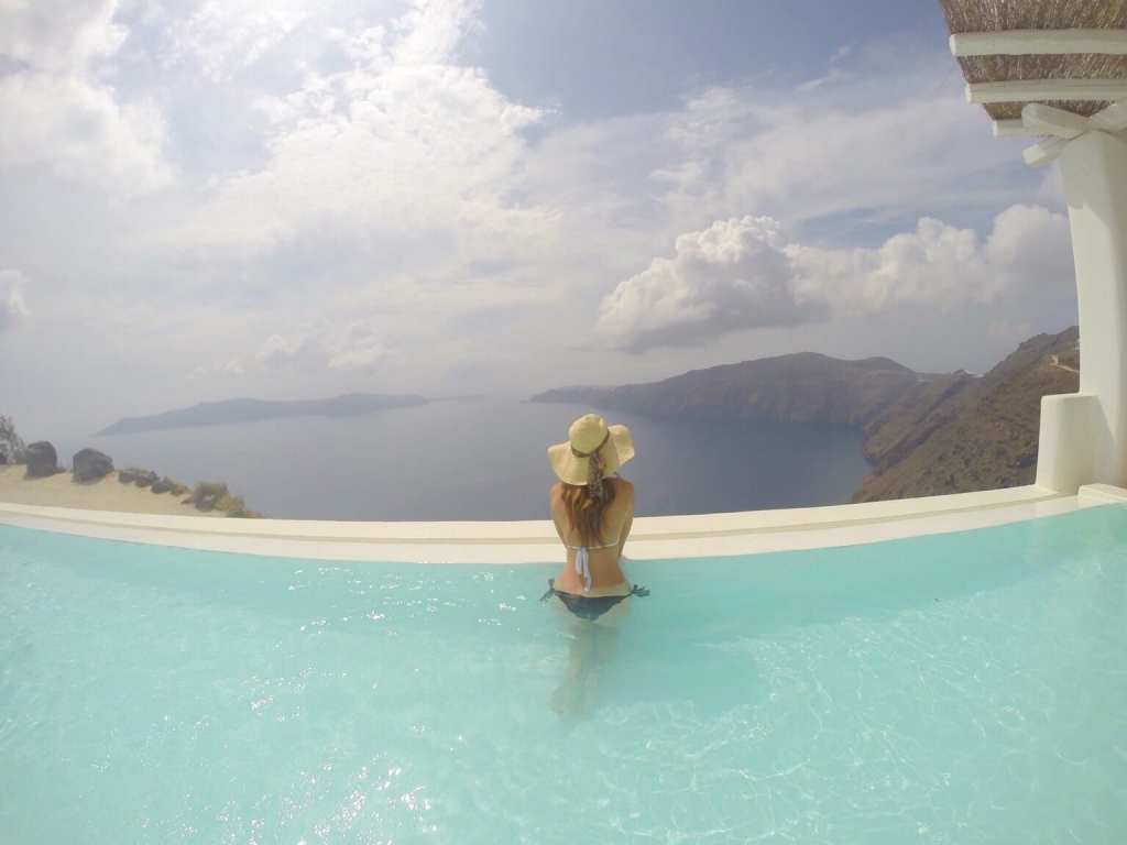 Christine - Santorini, PlanesTrainsAndChampagne.com