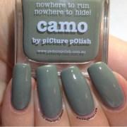 polish camo with splatter
