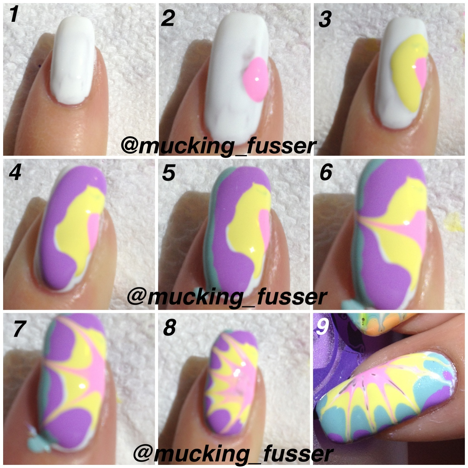 Poptastic Toothpick Marble Nail Art Photo Tutorial Pointless Cafe View Images Limecrime Mucking Fusser
