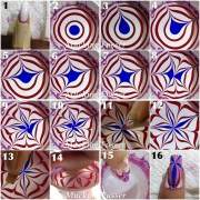 4th of july star water marble