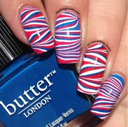 4th of july striped water marble