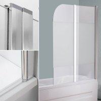 Glas Duschabtrennung Badewannenaufsatz Faltwand Badewanne