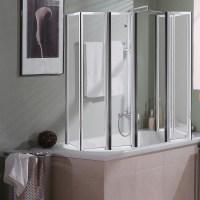 Badewannen Duschfaltwand Duschkabine Badewannenaufsatz
