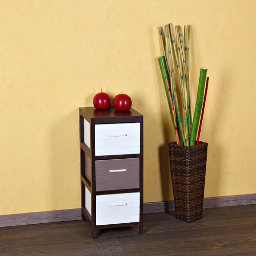 Kommode Schuhschrank Holz Sideboard Braun Wei Wohnzimmer Flur Regal Schrank NEU