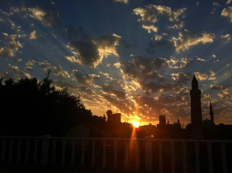 antalia turquia nascer do sol