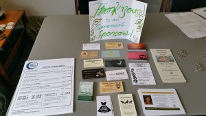 Event schedules & sponsor business cards