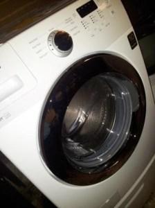 Shiny new washing machine.