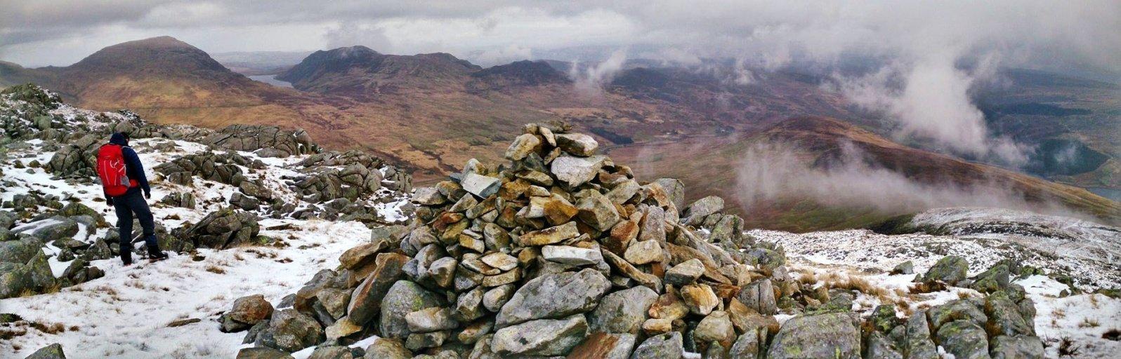 Summit panorama from Gallt yr Ogof.