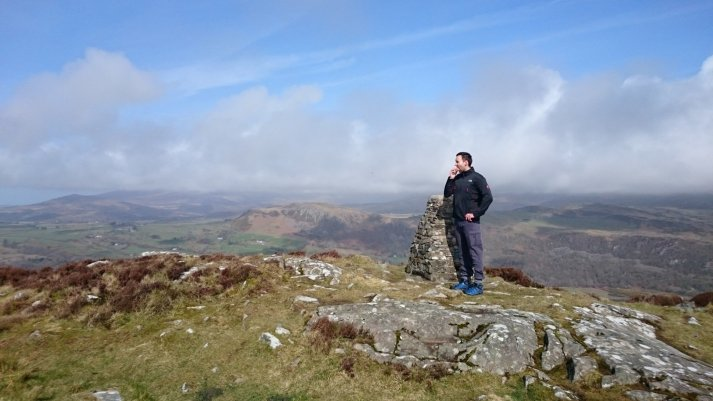 walk up Moel Y Gest