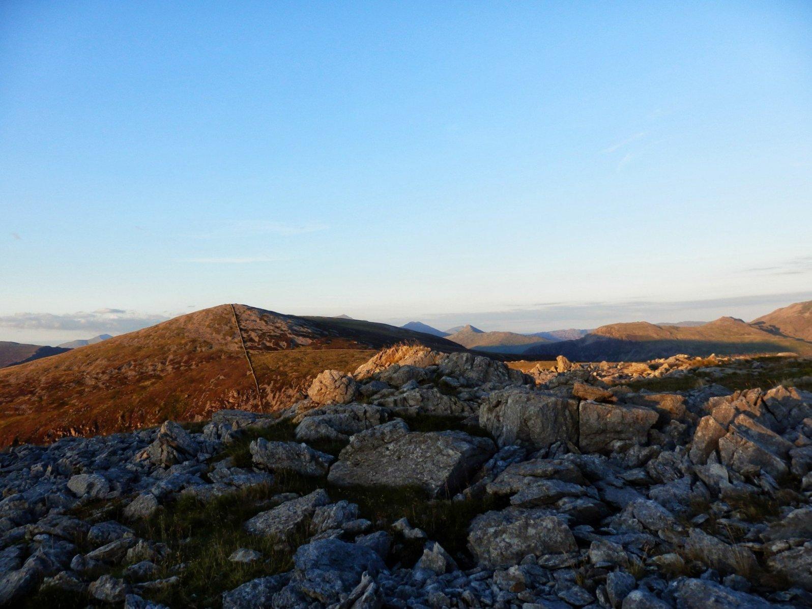 View towards Garnedd-goch.