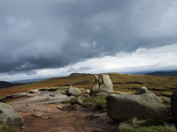 Walk up Kinder Scout from Edale