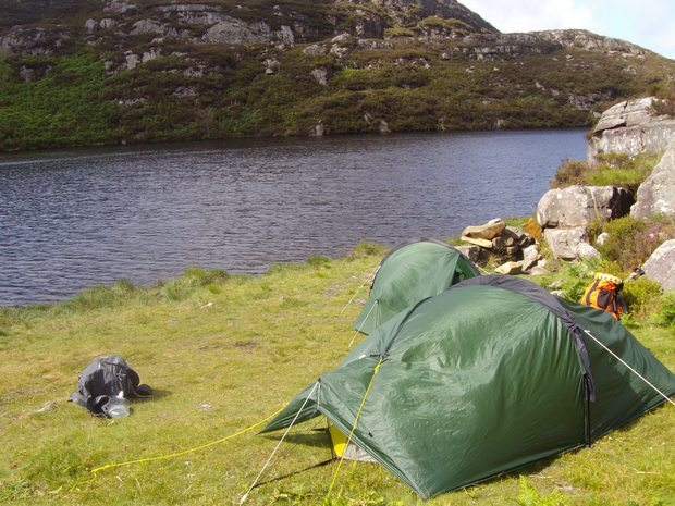 Wild Camping at Llyn Morwynion - possibly one of the best spots in the park.