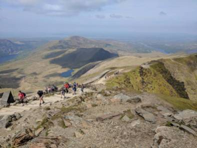 Walk up Snowdon via the Llanberis Path Cambrian Way