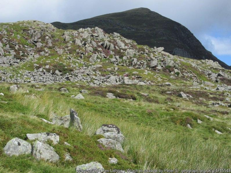 Pen Llithrig y Wrach and Pen yr Helgi Du from Capel Curig