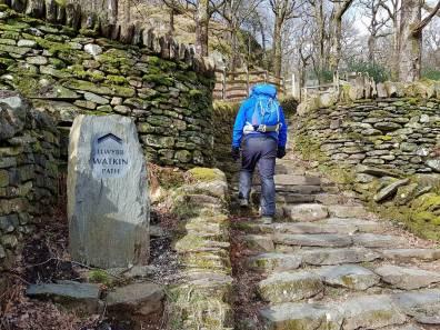 Walk to Cwm Bleiddiaid and Nant Gwynant from Craflwyn Hall Cambrian Way