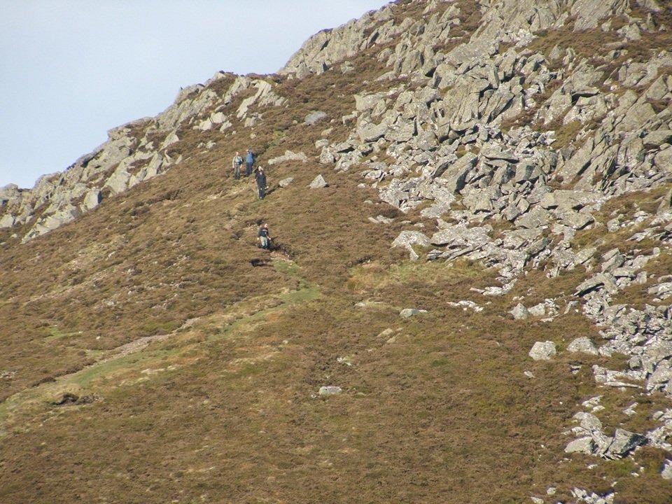 Creigiau Gleision and Llyn Crafnant from Capel Curig