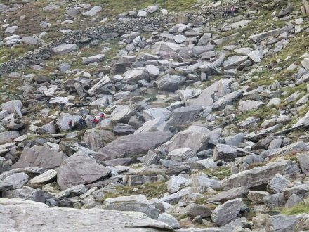This looks like just rocks at first sight, but spot the walkers to ascertain the scale!