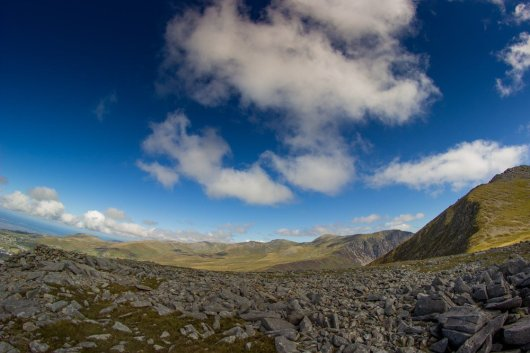You can get the ENTIRE Carneddau in shot with this lens. Now that's wide!