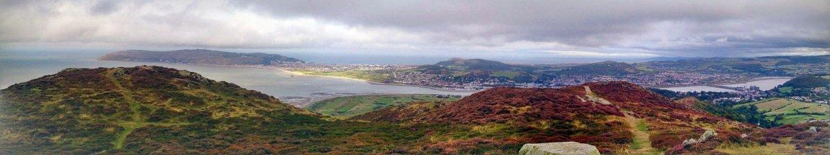 View from Conwy Mountain Mynydd y Dref