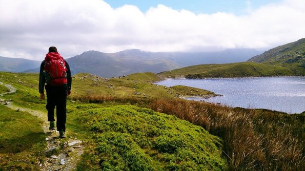 High Carneddau from Llyn Ogwen - Carnedd Dafydd and Llywelyn