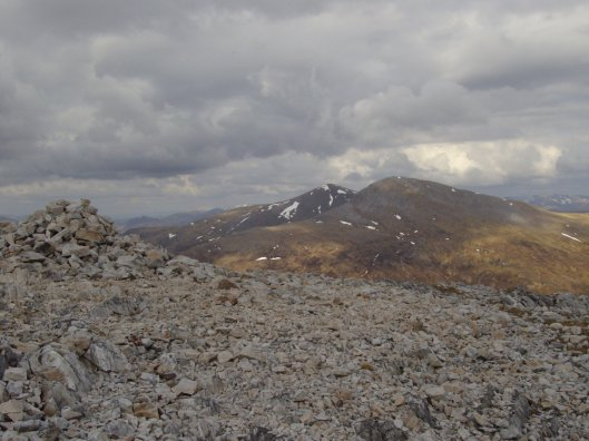 Summit of Stob Ban, not as pointy as it looks from below!