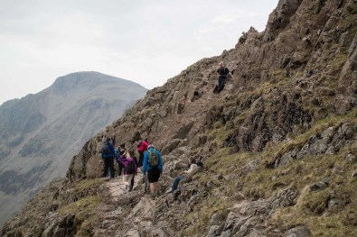 Walk up Scafell Pike via the Corridor Route from Borrowdale