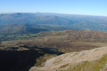 The Snowdonia Way The view north from Cadair Idris