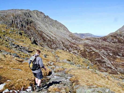 103 Walk up Y Garn, Glyderau and Tryfan from Ogwen