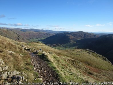 Walk up Bowfell via The Climbers Traverse from ODG