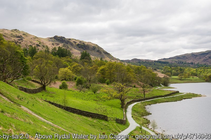 Rydal Water Easy Walk from White Moss Common to Steps End