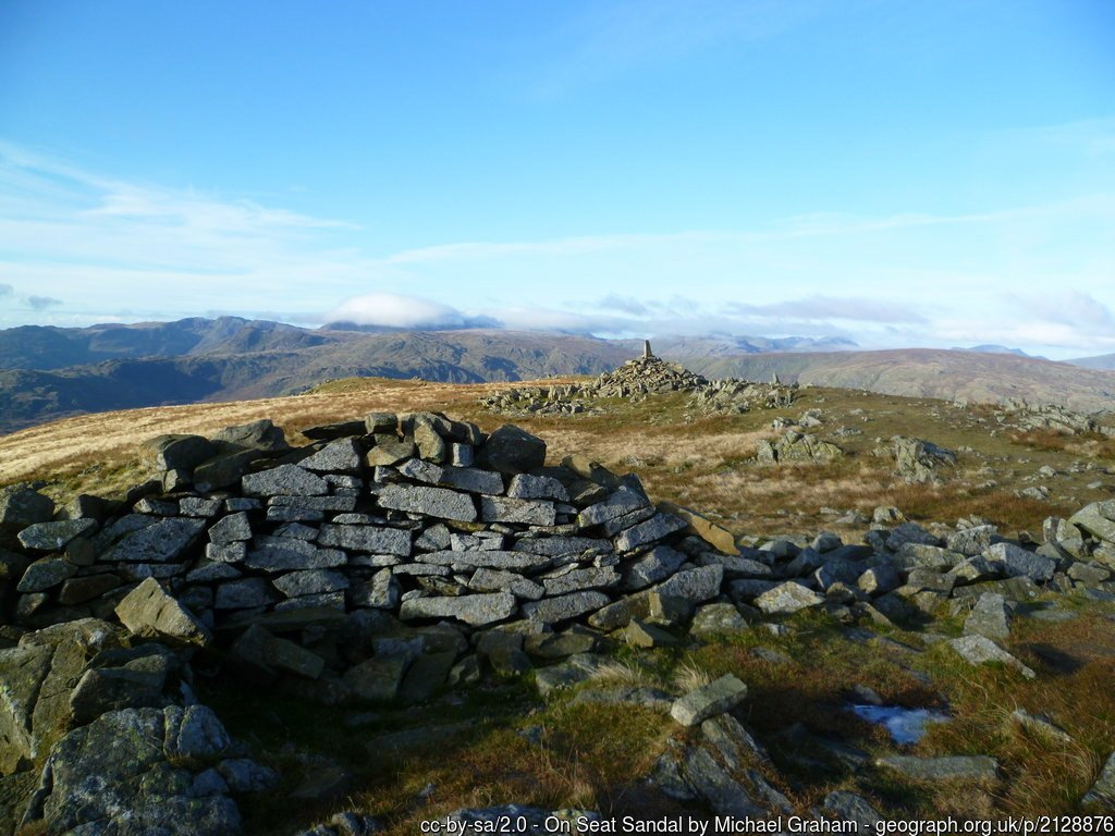 24 - Seat Sandal -The Highest Mountains In England - The Top 25