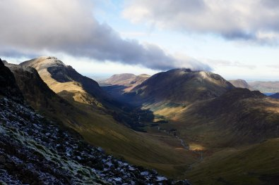 Walk up Great Gable from Seathwaite via Gillercomb