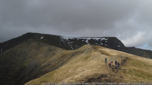 Scales Fell path to Blencathra