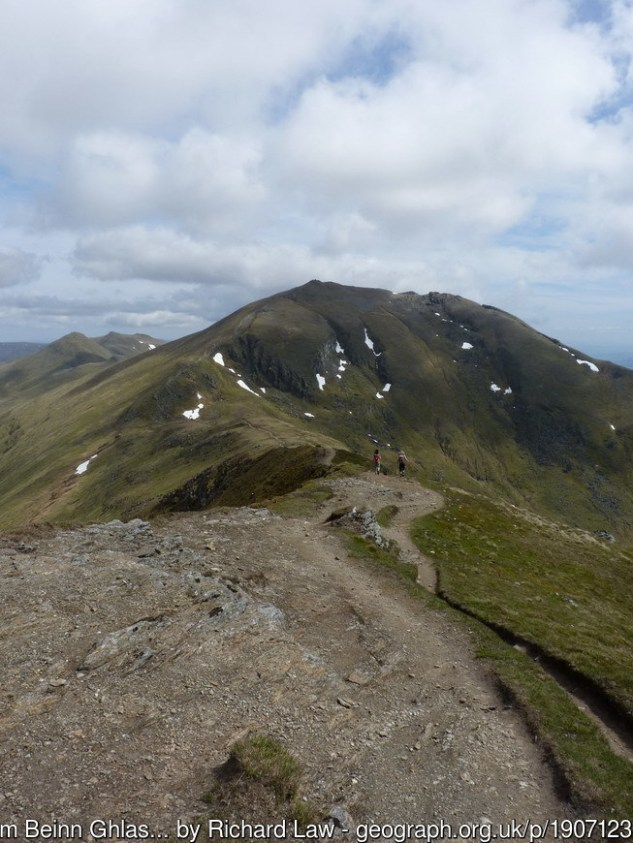 The ridge from Beinn Ghlas to Ben Lawers