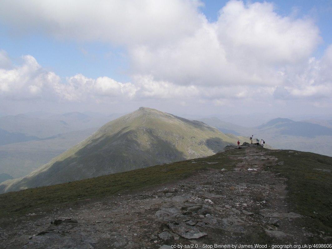 Stob Binnein Summit looking towards Ben More