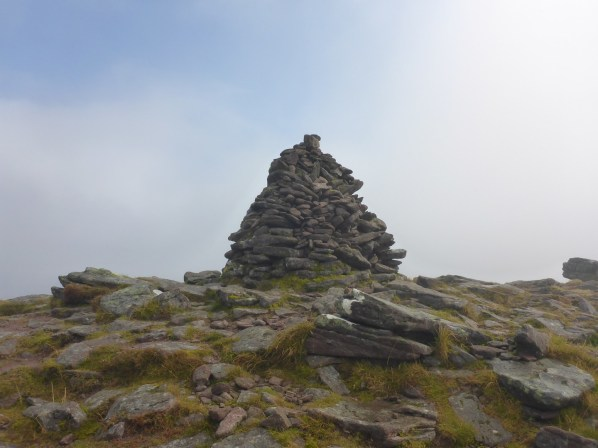 The summit cairn of Sgurr Mhor