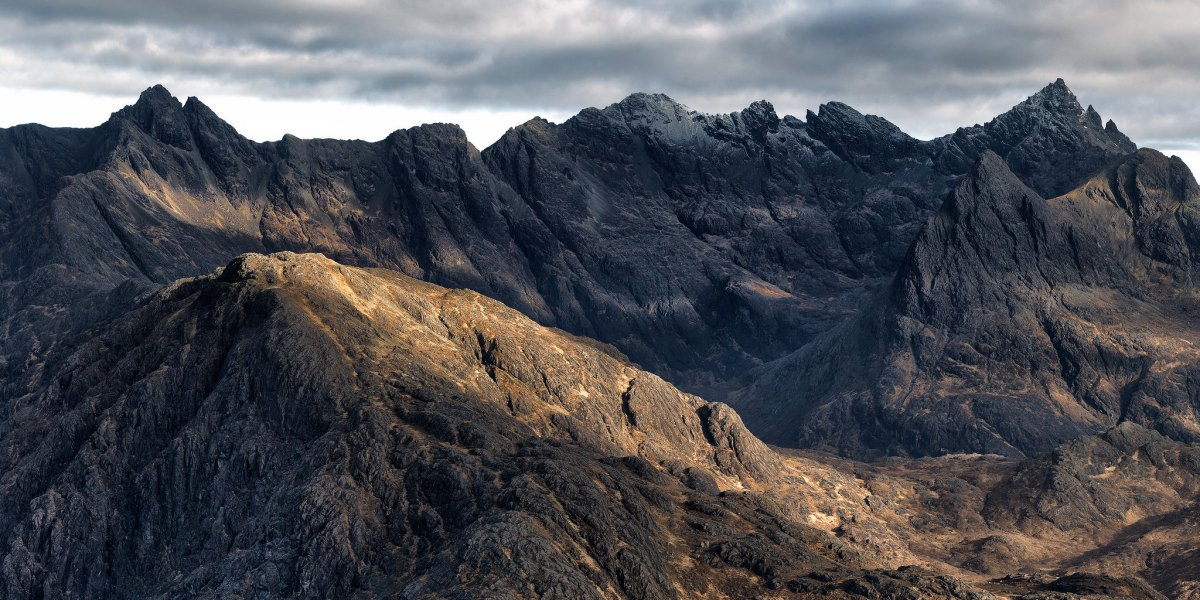 Cuillin Ridge on Skye, Scotland