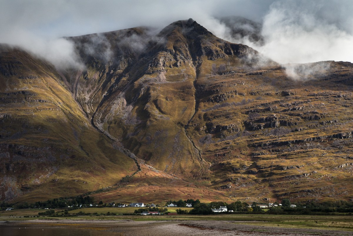 Liathach towers over Torridon village