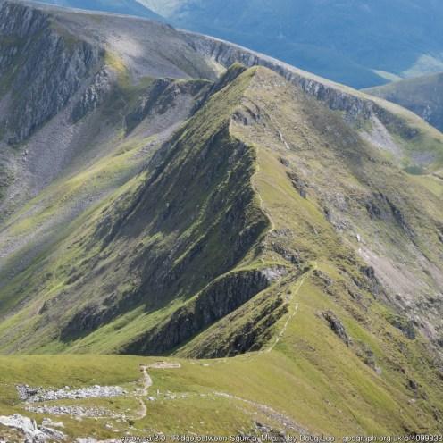 Ridge between Sgùrr a' Mhàim and Stob Choire a' Mhail