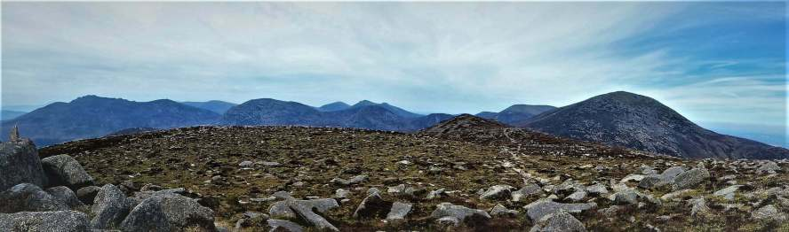 7.5 L-R Binnian to Donard Chimney Rock Mountain via Carr's Face Quarry