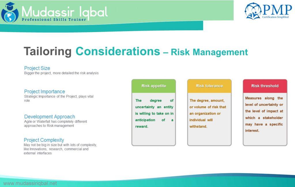 Risk Management – PMP Certification Simplified! (PMBOK V6)