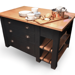 Handmade Kitchen Islands Ikea Island With Seating Beautiful Bespoke Handcrafted In Staffordshire Oak Top Pan Drawers