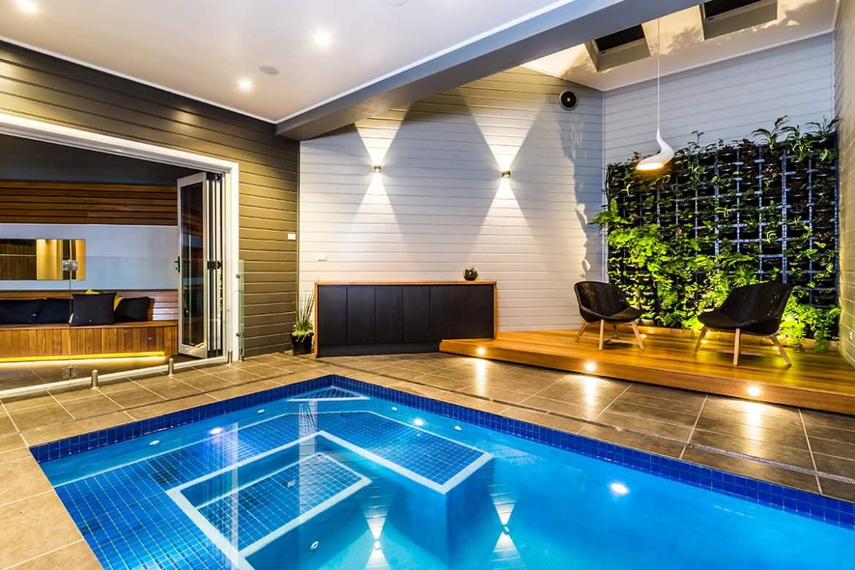 Newcastle Merewether backyard pool landscape design
